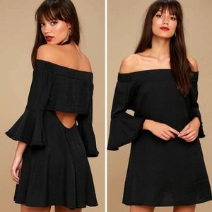 Lulu's Day Out Off-theShoulder Dress Cutout Back